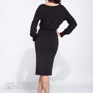 efektowne sukienki bawełniana sukienka olówkowa z luźną górą