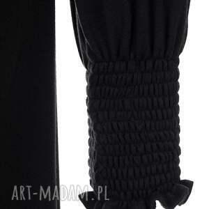 efektowne sukienki długi-rękaw sukienka olówkowa z luźną górą i