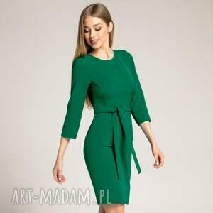 sukienki dopasowana-sukienka sukienka ołówkowa sara szmaragdowa