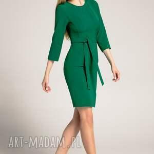 trendy sukienki dopasowana-sukienka sukienka ołówkowa sara szmaragdowa