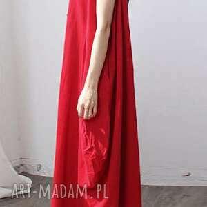 sukienki sukienka oversize czerwona na lato