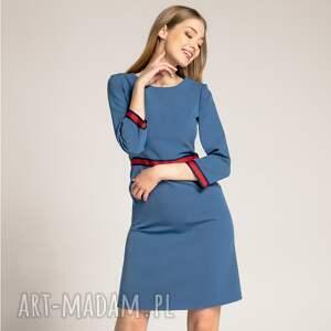 sukienki sukienka-do-pracy sukienka patrizia sport z lampasami