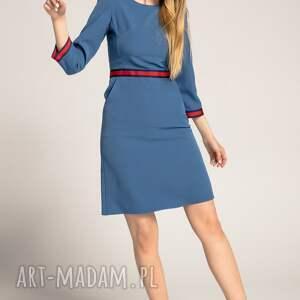handmade sukienki sukienka-do-pracy sukienka patrizia sport z lampasami