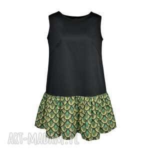 szmaragd sukienki sukienka pawie oczko mała czarna