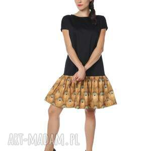 sukienki sukienka pawie oczko mała czarna
