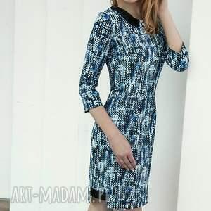 sukienki niebieska sukienka piksels