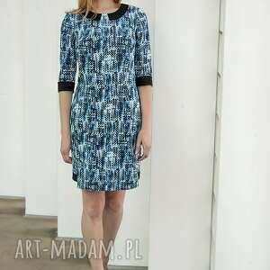 wyjątkowe sukienki piksele sukienka piksels niebieska