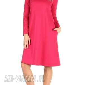 różowe sukienki sukienka rozkloszowana fuksja