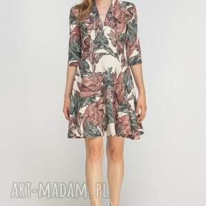 modne sukienki casual sukienka rozkloszowana, suk147