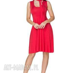 eleganckie sukienki sukienka rozkloszowana wiązana na