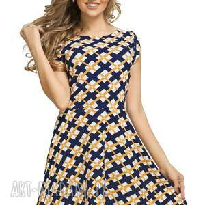 sukienki rozkloszowana sukienka t183, wzór