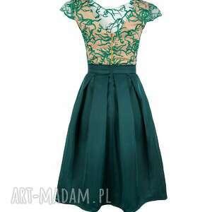 handmade sukienki sukienka rozkloszowana z haftowaną