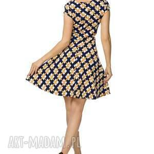 rozkloszowana sukienki sukienka t183, wzór