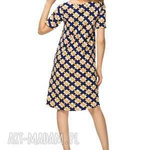 sukienki rozkloszowana sukienka t188, wzór