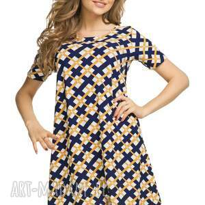 unikalne sukienki sukienka rozkloszowana t188, wzór