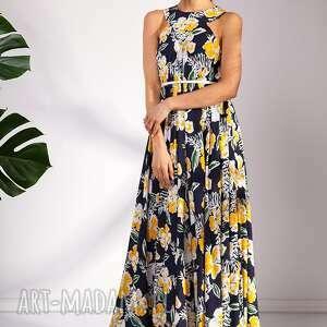 maxi sukienki żółte sukienka sanaa