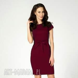 sukienki bordowa-sukienka sukienka sara rubinowa roz