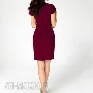 bordowa-sukienka sukienki sukienka sara rubinowa roz