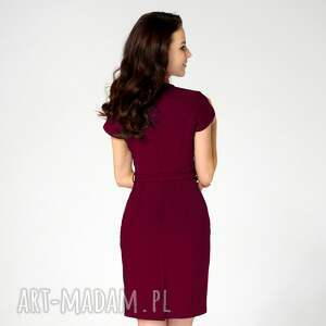 sukienki sukienka-ołówkowa sukienka sara rubinowa roz