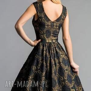 niebieskie sukienki midi sukienka scarlett (marszczona)