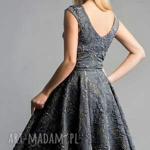 srebrne sukienki błyszcząca sukienka scarlett (koło) midi
