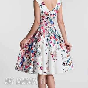 eleganckie sukienki kwiaty sukienka scarlett midi otylia