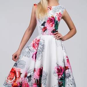 hand made sukienki kwiaty sukienka scarlett midi delicja