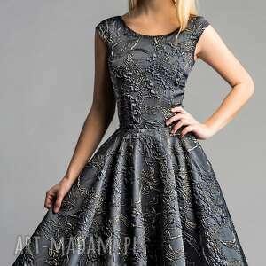 ręcznie zrobione sukienki midi sukienka scarlett (koło)