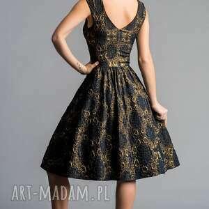 rozkloszowana sukienki sukienka scarlett (marszczona) midi
