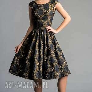 sukienki rozkloszowana sukienka scarlett (marszczona) midi