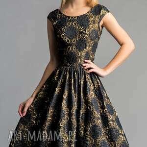 atrakcyjne sukienki rozkloszowana sukienka scarlett (marszczona) midi
