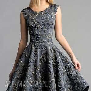 ręcznie zrobione sukienki złota sukienka scarlett (koło) midi
