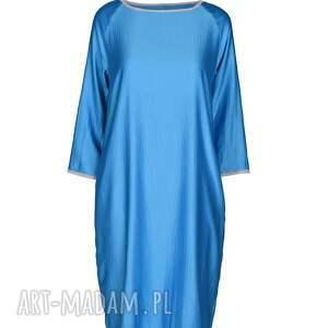 wiosna sukienki sukienka semplice - blu