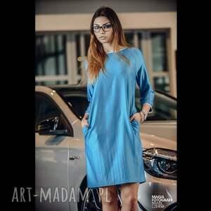 wyjątkowe sukienki sukienka semplice - blu