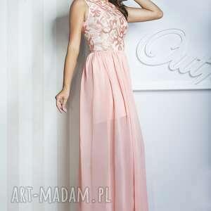 niepowtarzalne sukienki długa sukienka sharon ii maxi różowa