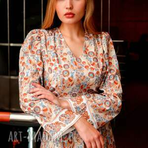 sukienki sukienka-wzorzysta sukienka sofi wild birds roz. 36