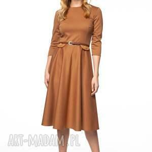 Pawel Kuzik beżowe sukienki midi sukienka sofika