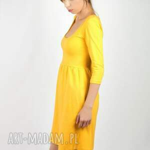 atrakcyjne sukienki żółta sukienka spicy mustard