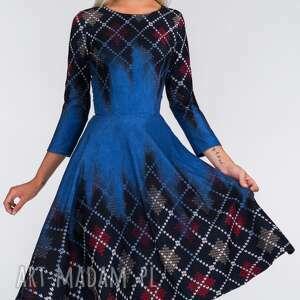 niebieskie sukienki denim sukienka star 3/4 midi roxana