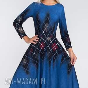 niebieskie sukienki kieszenie sukienka star 3/4 midi roxana 2