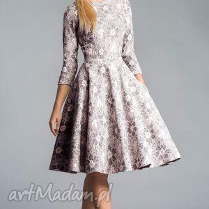 kieszenie sukienki sukienka star 3/4 midi shanon