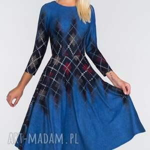 modne sukienki koło sukienka star 3/4 midi roxana 2