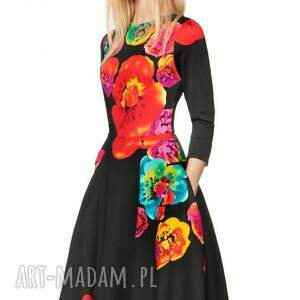 sukienki oryginalna sukienka star 3/4 midi marika