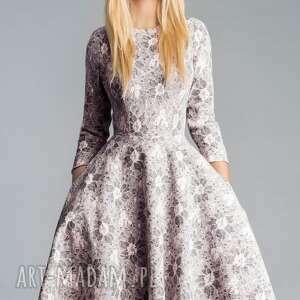 sukienki koronka sukienka star 3/4 midi shanon
