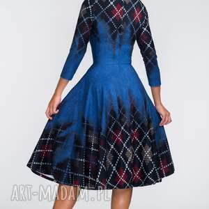 sukienki midi sukienka star 3/4 roxana