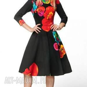 hand made sukienki midi sukienka star 3/4 marika