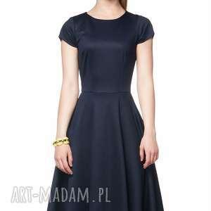 sukienki rozkloszowana sukienka star midi granat