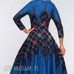 koło sukienki sukienka star 3/4 midi roxana 2