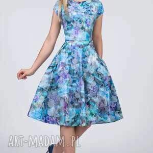 sukienki żakard sukienka star midi markiza