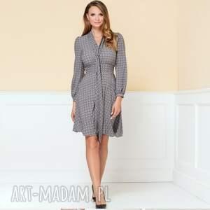 sukienki rozkloszowana-sukien sukienka stella w drobny wzór